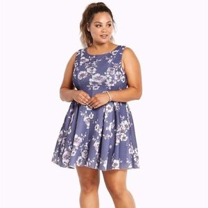 NWT Torrid Floral Pleated Fit & Flare Dress 14